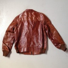 Brown leather back