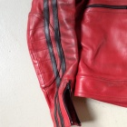 Damen Vintage Red Racer Jacket1