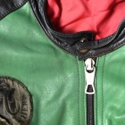 Furygan leather jacket collar zipper