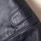 MQP vintage leather biker front logo