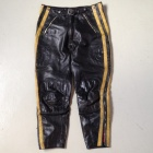 vintage motocross leather pants front