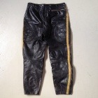 vintage motocross leather pants front.