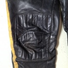 vintage motocross leather pants knee