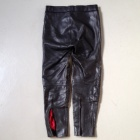 Damen black leather pants back